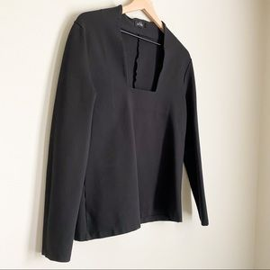 KATE SPADE SATURDAY square neck long-sleeve top